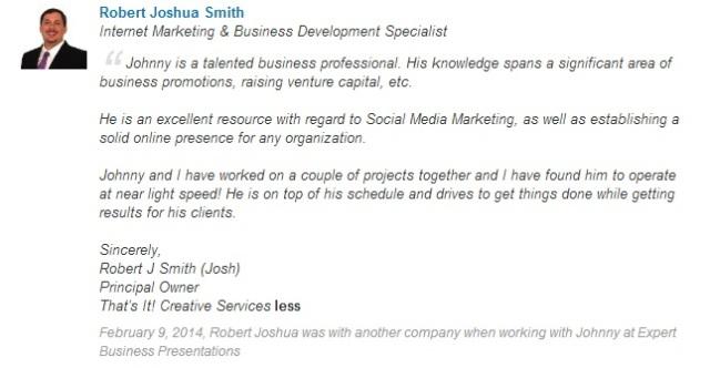 EBP.recommendation.JoshuaSmith